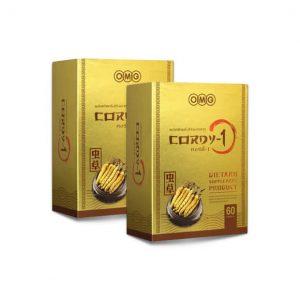 OMG CORDY-1 ถั่งเช่าทิเบตแท้ X2 กล่อง (120 แคปซูล)