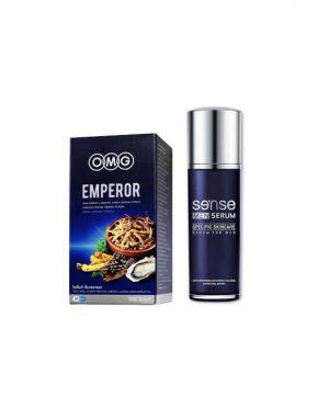 EMPEROR 30 แคปซูล + Sense Men Serum 30 Ml