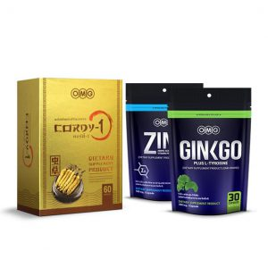 Cordy-1(60 แคปซูล) + Zinc Amino + Ginkgo Plus