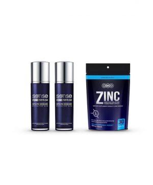 Sense Men Serum 2 ขวด + OMG ZINC 30 แคปซูล